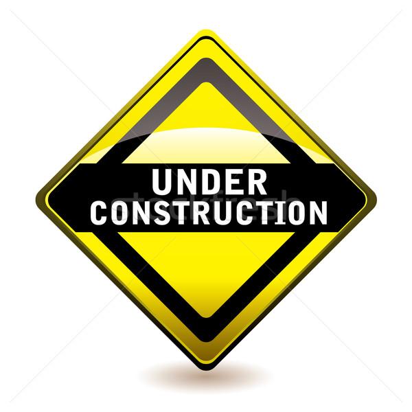 Under construction icon Stock photo © nicemonkey