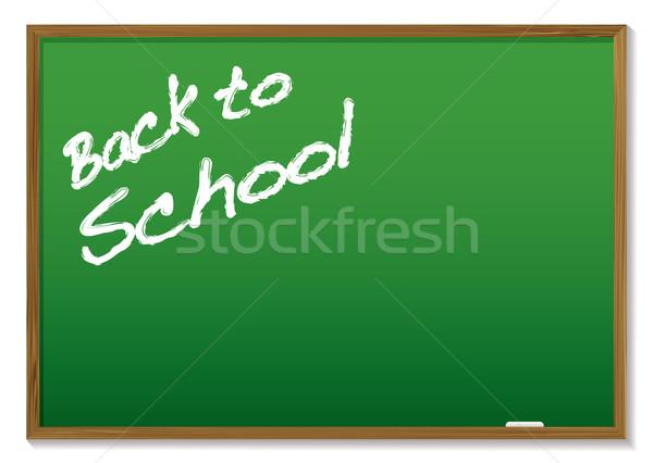 chalkboard back to school Stock photo © nicemonkey
