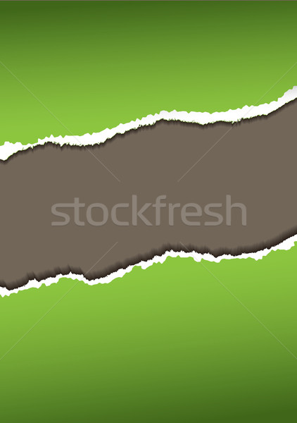 Verde papel rasgar abstrato áspero fundo Foto stock © nicemonkey