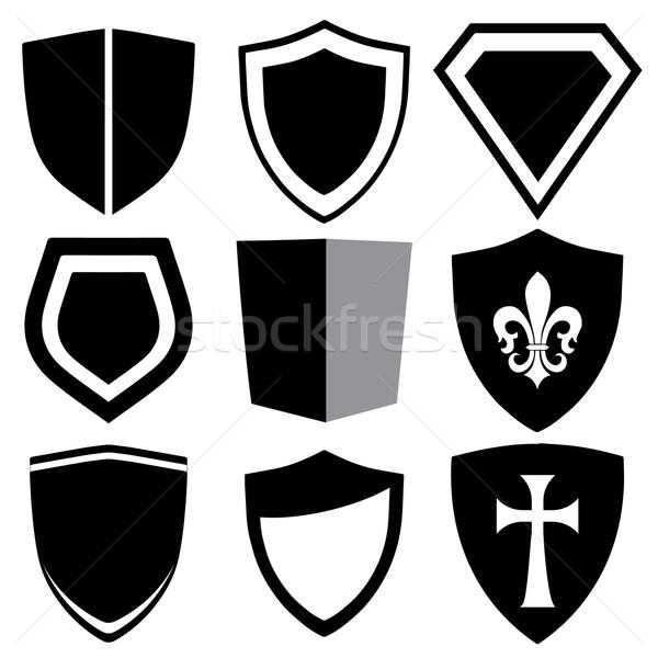 modern shield collection Stock photo © nicemonkey