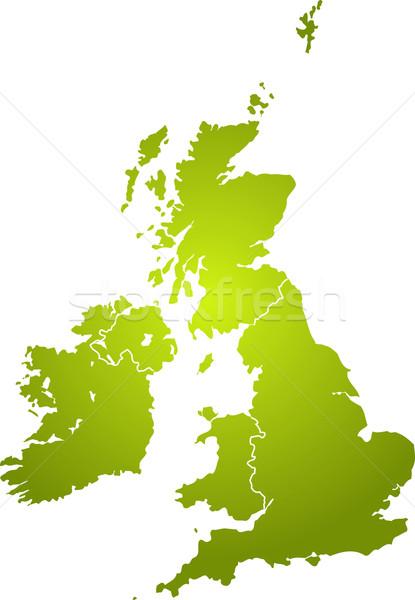 uk map green Stock photo © nicemonkey