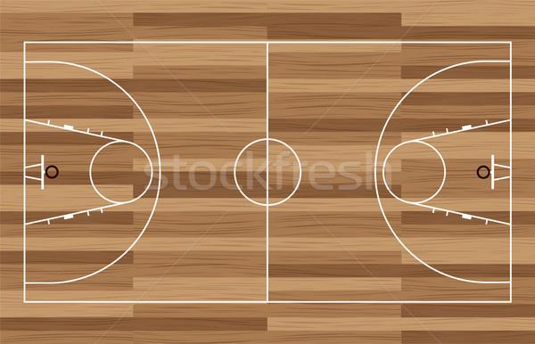 wood basketball court Stock photo © nicemonkey