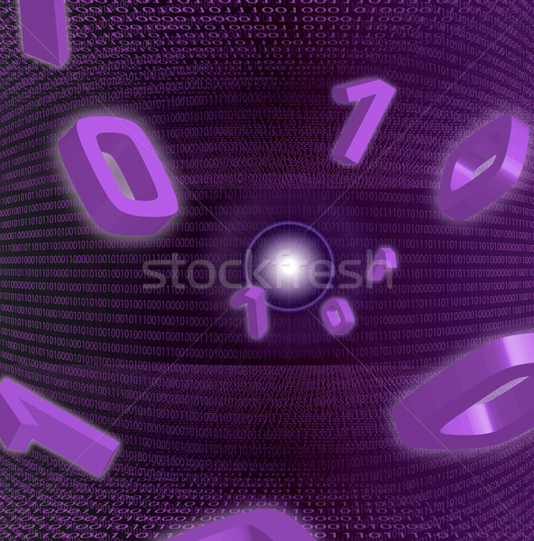 Zero una violet abstract vedere Internet Imagine de stoc © nicemonkey