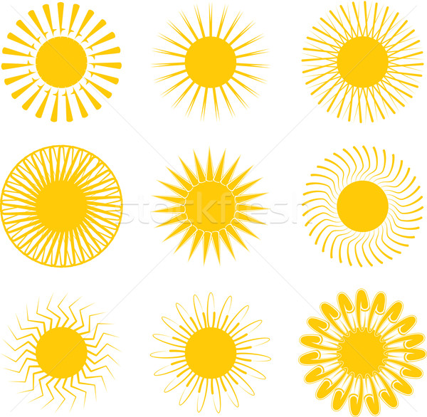 Inca zon illustraties negen verschillend beïnvloeden Stockfoto © nicemonkey