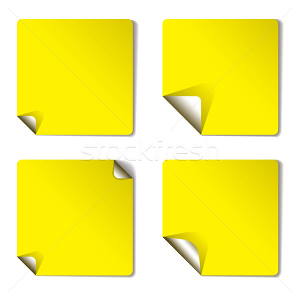 yellow variation page curl Stock photo © nicemonkey