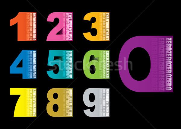 コピースペース 番号 カラフル コレクション セット アイコン ストックフォト © nicemonkey
