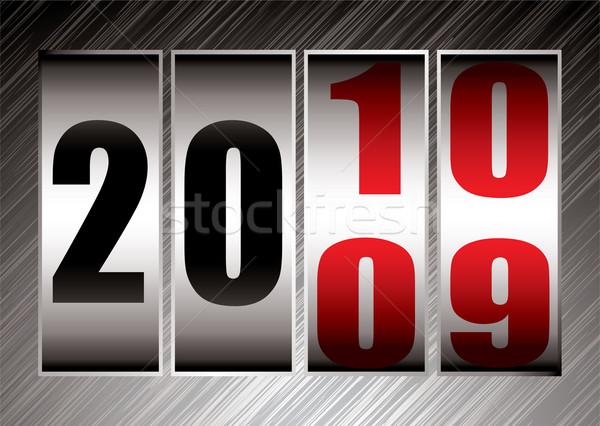 Randevú apró 10 piros boldog új évet illusztráció Stock fotó © nicemonkey