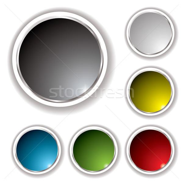 buttons white bevel Stock photo © nicemonkey