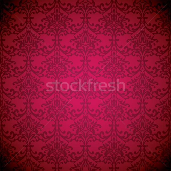 Magenta sonho papel de parede floral sem costura repetir Foto stock © nicemonkey