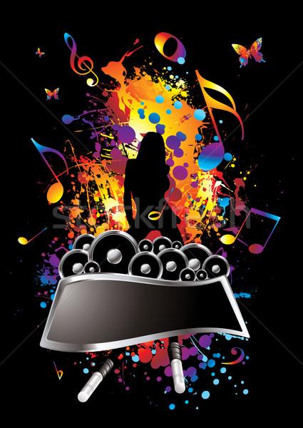 musical splat Stock photo © nicemonkey