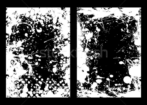 Negative ink splat frame Stock photo © nicemonkey