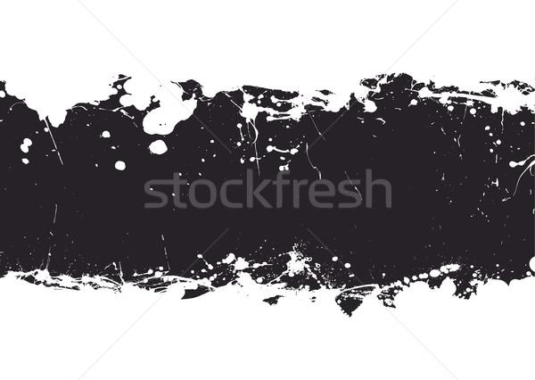 black ink splat banner Stock photo © nicemonkey