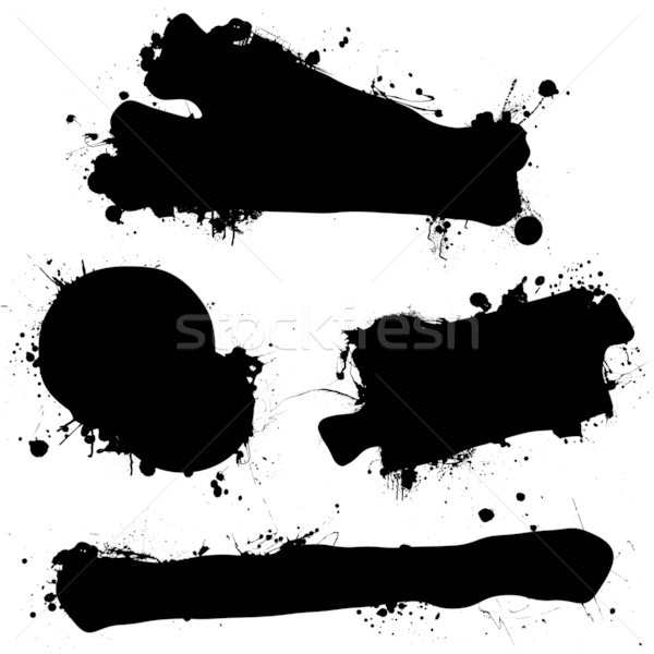 ink splat black blank Stock photo © nicemonkey