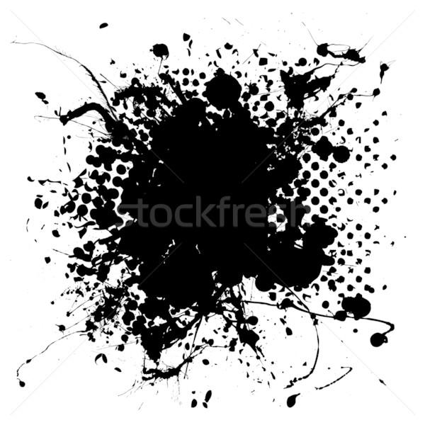 large halftone ink splat Stock photo © nicemonkey