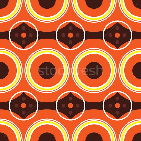Sessanta arancione retro design caldo colori Foto d'archivio © nicemonkey