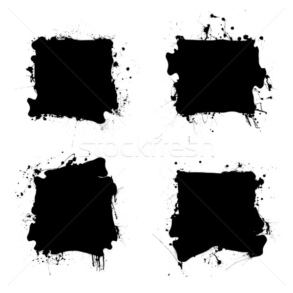 square black ink splat Stock photo © nicemonkey
