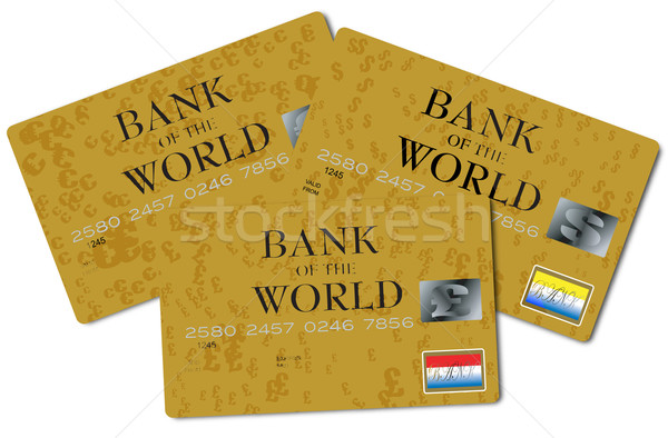 triple credit card Stock photo © nicemonkey