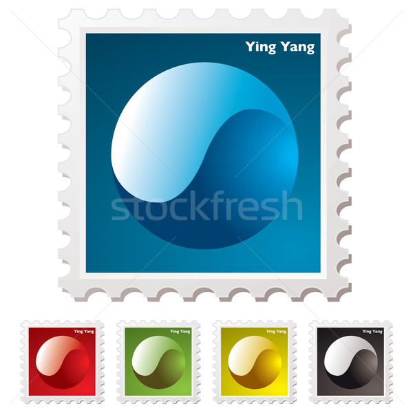 ying yang stamp Stock photo © nicemonkey