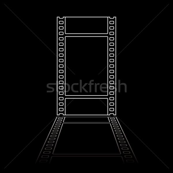 Egyszerű filmszalag illusztráció fehér negatív filmszalag Stock fotó © nicemonkey