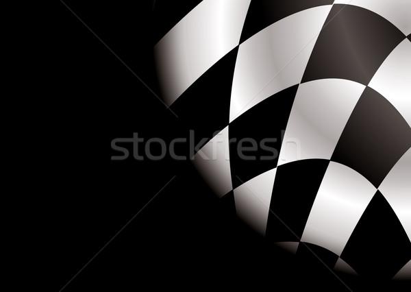 checkered corner blank Stock photo © nicemonkey