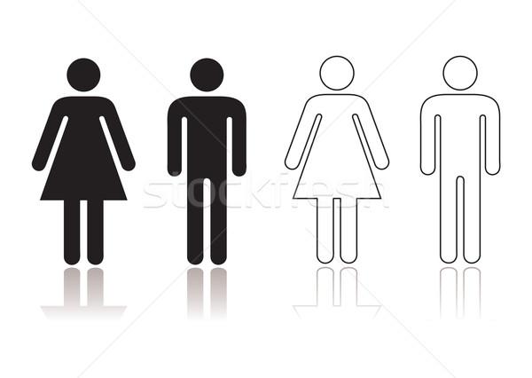 Restroom symbol Stock photo © nicemonkey