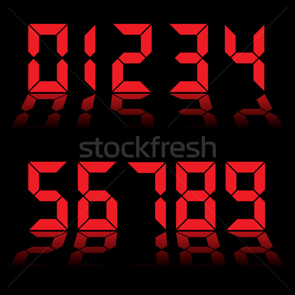 digital numbers clock red Stock photo © nicemonkey
