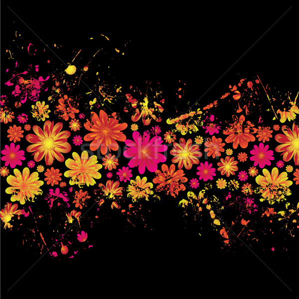 floral ink splat Stock photo © nicemonkey