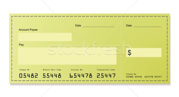Groene dollar cheque bank ruimte eigen Stockfoto © nicemonkey