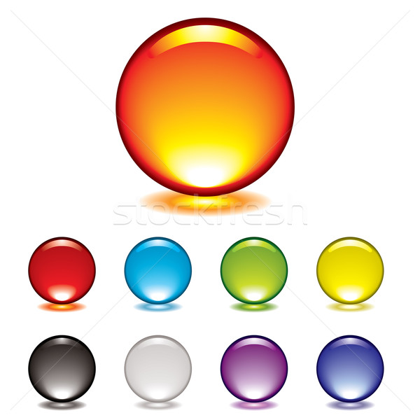 marble button glow Stock photo © nicemonkey