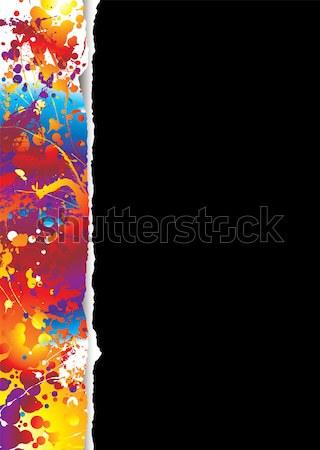 Gökkuşağı gözyaşı beyaz siyah etki sınır Stok fotoğraf © nicemonkey