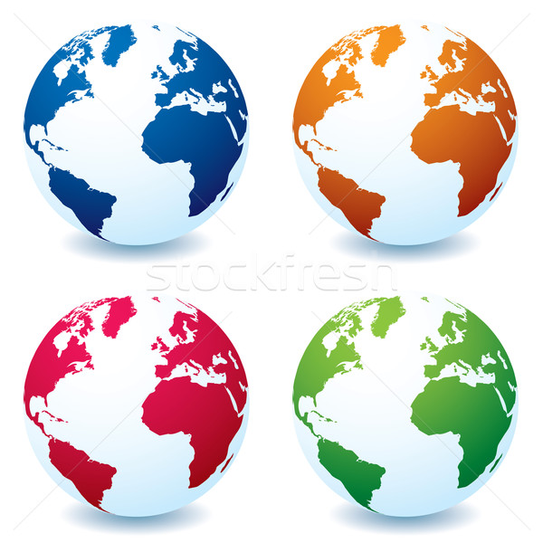 realistic earth globe variation Stock photo © nicemonkey
