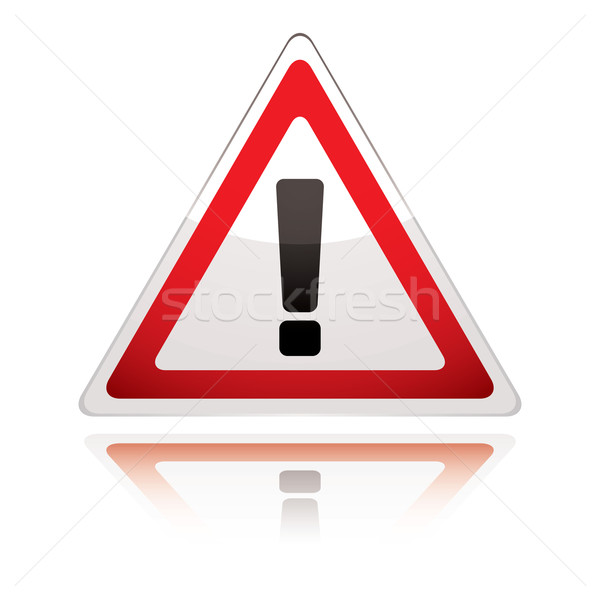 warning sign icon uk exclamation Stock photo © nicemonkey