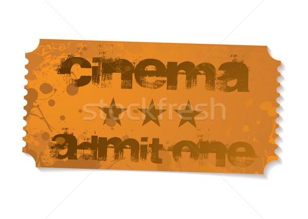 Admit one cinema ticket Stock photo © nicemonkey