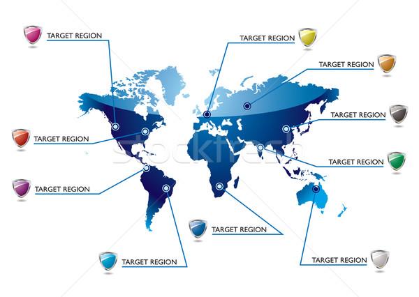 Info world map Stock photo © nicemonkey
