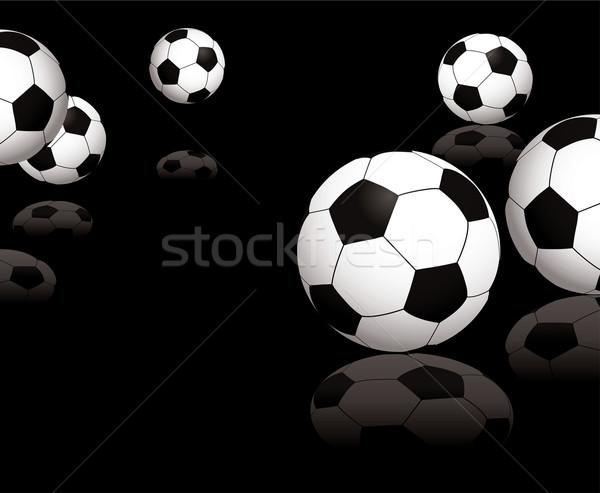 football reflect black Stock photo © nicemonkey