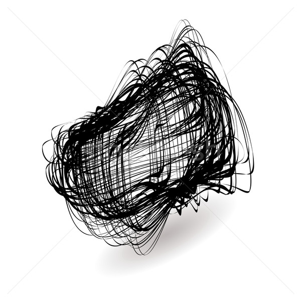 Dezordine ilustrat negru icoană picătură umbră Imagine de stoc © nicemonkey