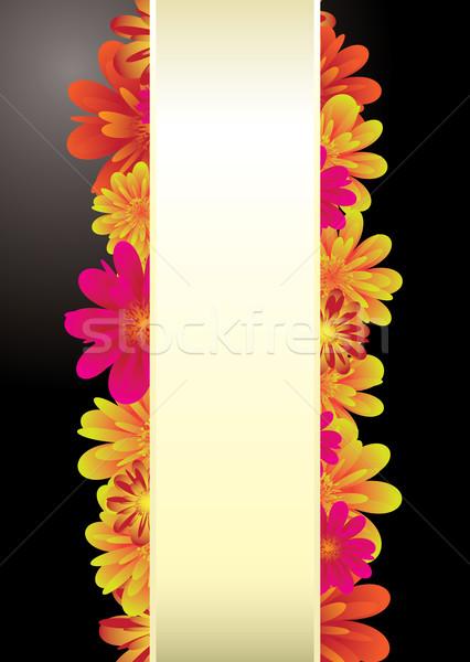 Papieru kwiatowy elementy czarny kopia przestrzeń tekst Zdjęcia stock © nicemonkey
