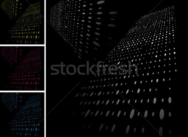 Griglia variazione abstract quattro colore arte Foto d'archivio © nicemonkey