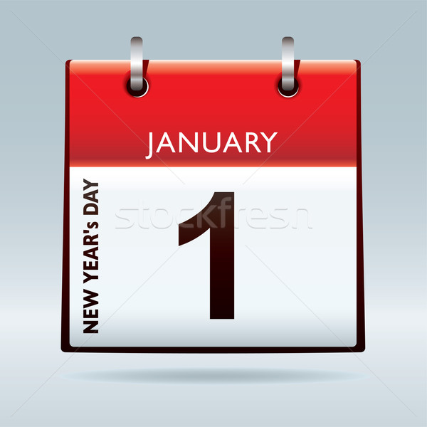New Year's Day calendar Stock photo © nicemonkey