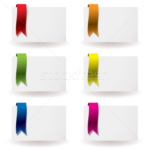 ribbon business card Stock photo © nicemonkey