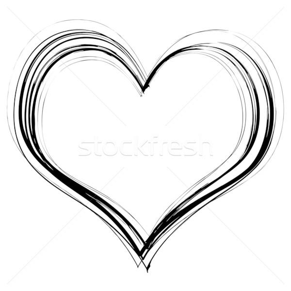 scribble heart Stock photo © nicemonkey