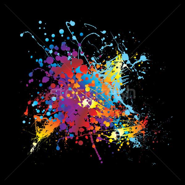 Splat ink rainbow Stock photo © nicemonkey