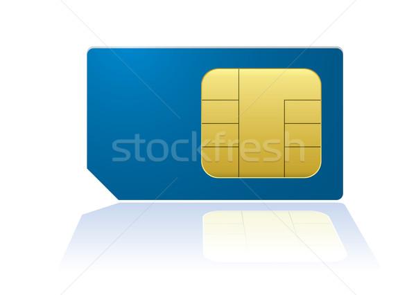 Сток-фото: синий · телефон · современных · gsm · мобильных · телефон