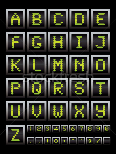 alphabet notice board Stock photo © nicemonkey
