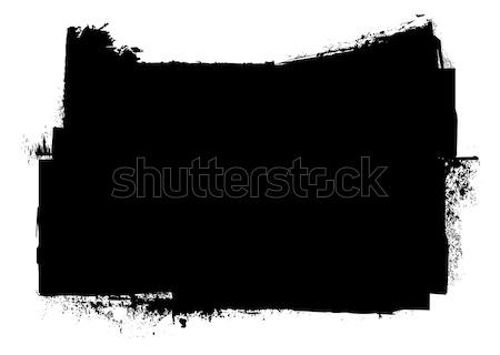grunge black ink stripe splat Stock photo © nicemonkey