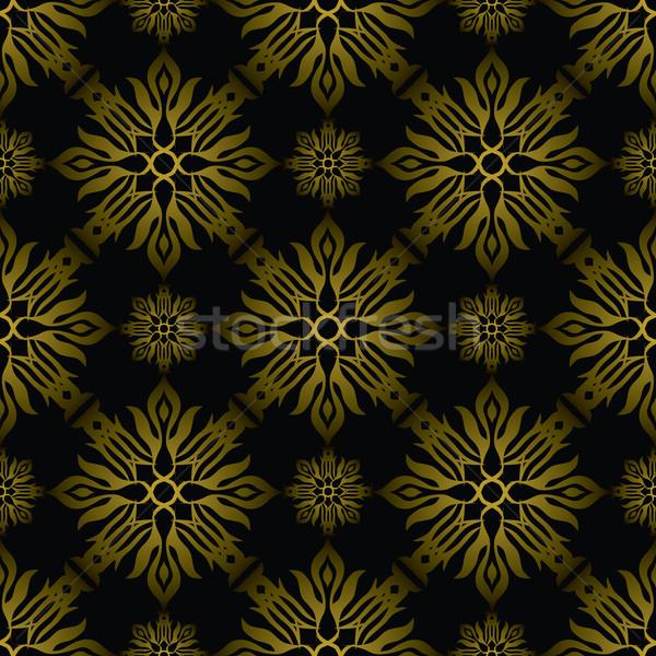 Inca telha ouro dourado papel de parede projeto Foto stock © nicemonkey