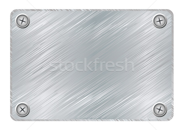 Stock photo: metal plaque