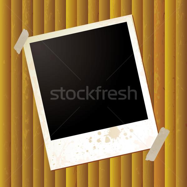 Polaroid ondulación grunge efecto dorado textura Foto stock © nicemonkey