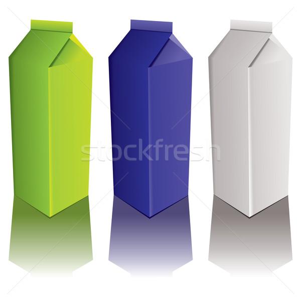 Karton variáció italok három szín csepp Stock fotó © nicemonkey