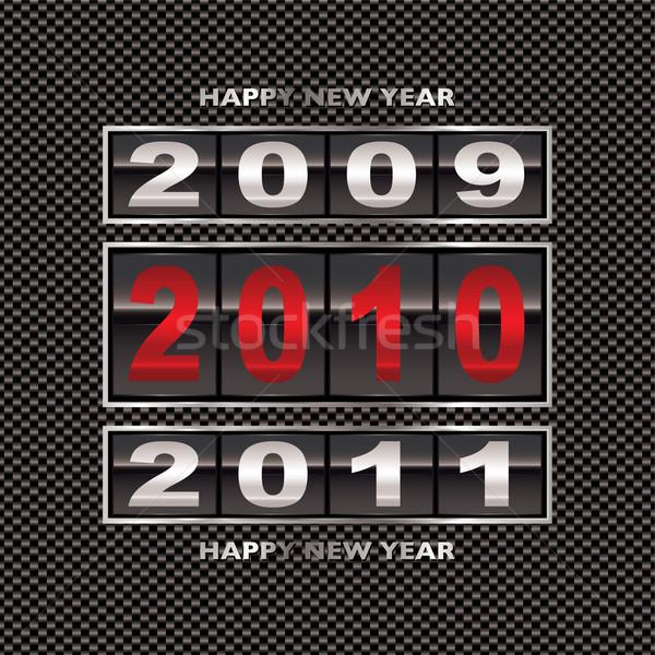 2010 koolstofvezel verandering nieuwjaar achtergrond vakantie Stockfoto © nicemonkey